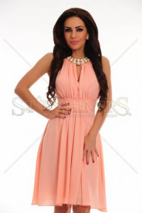 Rochie LaDonna Flaming Pearls Peach
