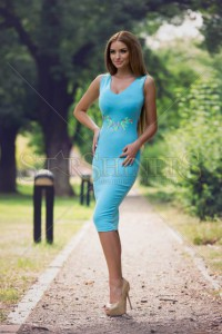 Rochie StarShinerS Brodata Wisely Blue