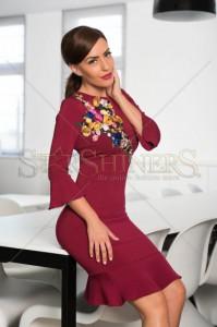 Rochie LaDonna Native Beauty Burgundy