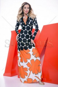 Rochie MissQ Bold Hearted Orange