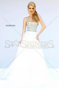 Rochie Sherri Hill 11175 White