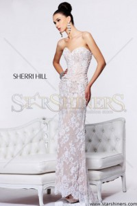 Rochie Sherri Hill 21025 White