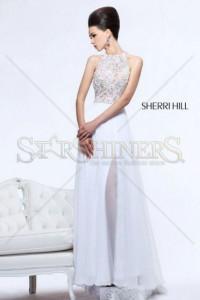 Rochie Sherri Hill 21110 White