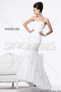 Rochie Sherri Hill 21115 White