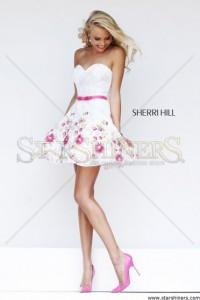 Rochie Sherri Hill 4310 White