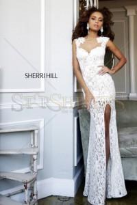 Rochie Sherri Hill 4316 White