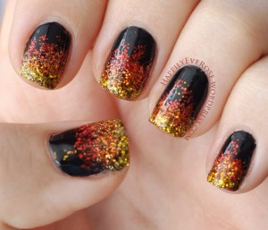 manichiura toamna glitter 2