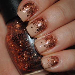 manichiura toamna glitter 3