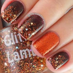 manichiura toamna glitter