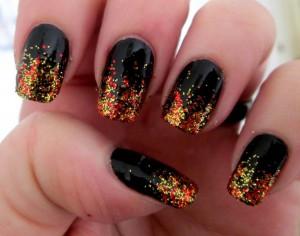 manichiura toamna glitter 4