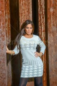 Rochie MissQ Graphic Suavity Grey