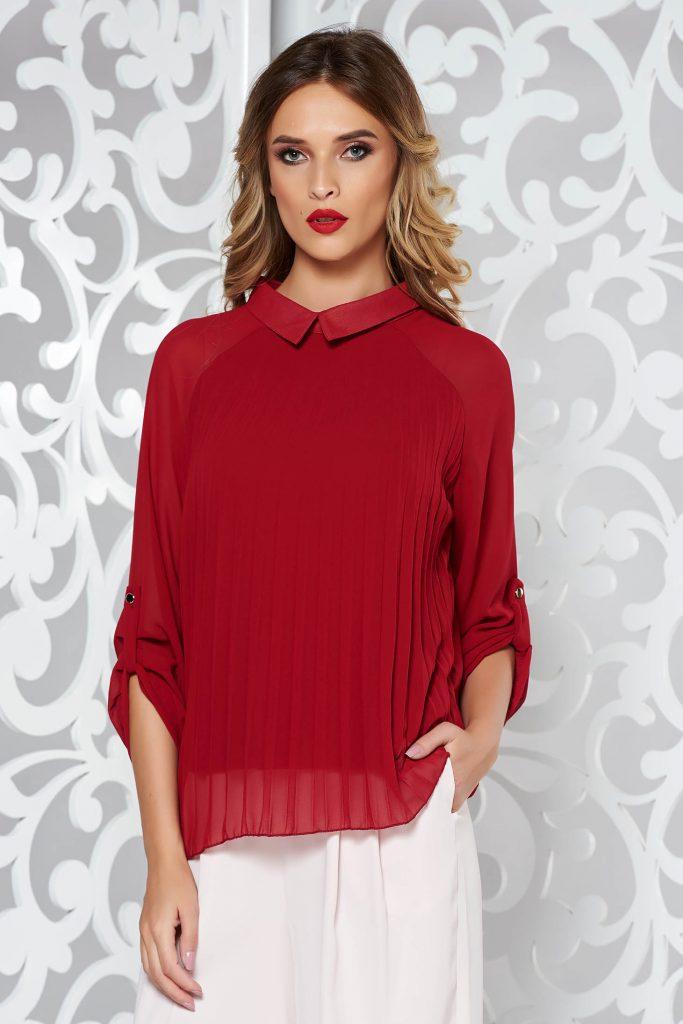 Bluza eleganta plisata