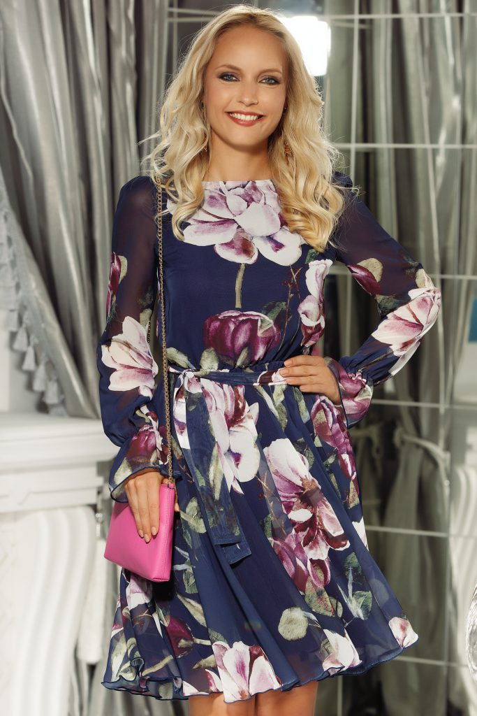 Rochie clos cu imprimeu floral